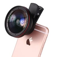 Smartphone Camera Lens Wide Angle Macro - 2 in 1 Clip On Mobile Phone Camera Lens For iPhone 6 7 For Samsung Galaxy Lentes
