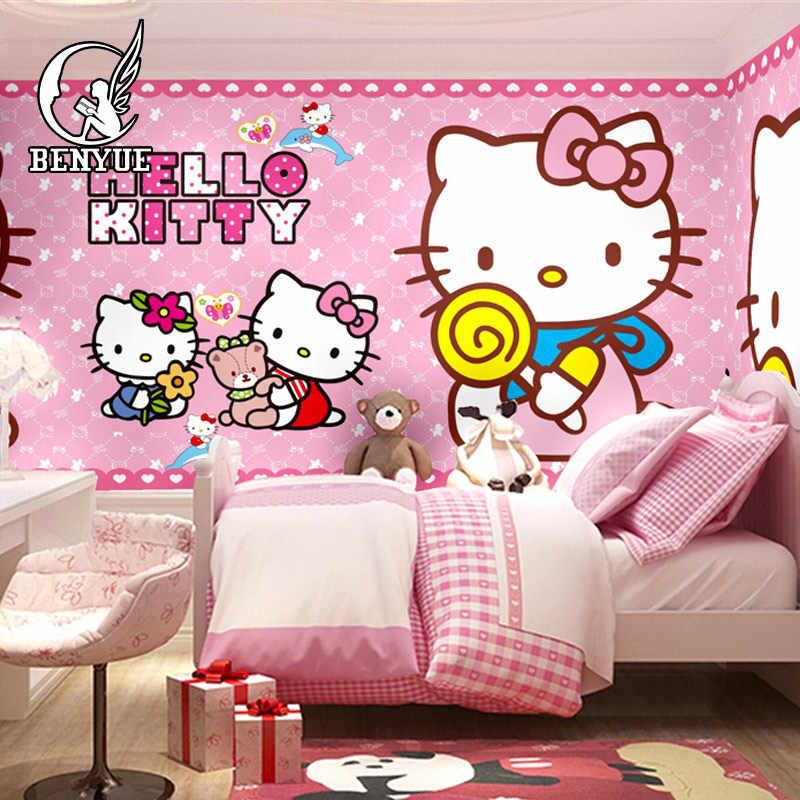 Free shipping Custom size Children's Room hello Kitty