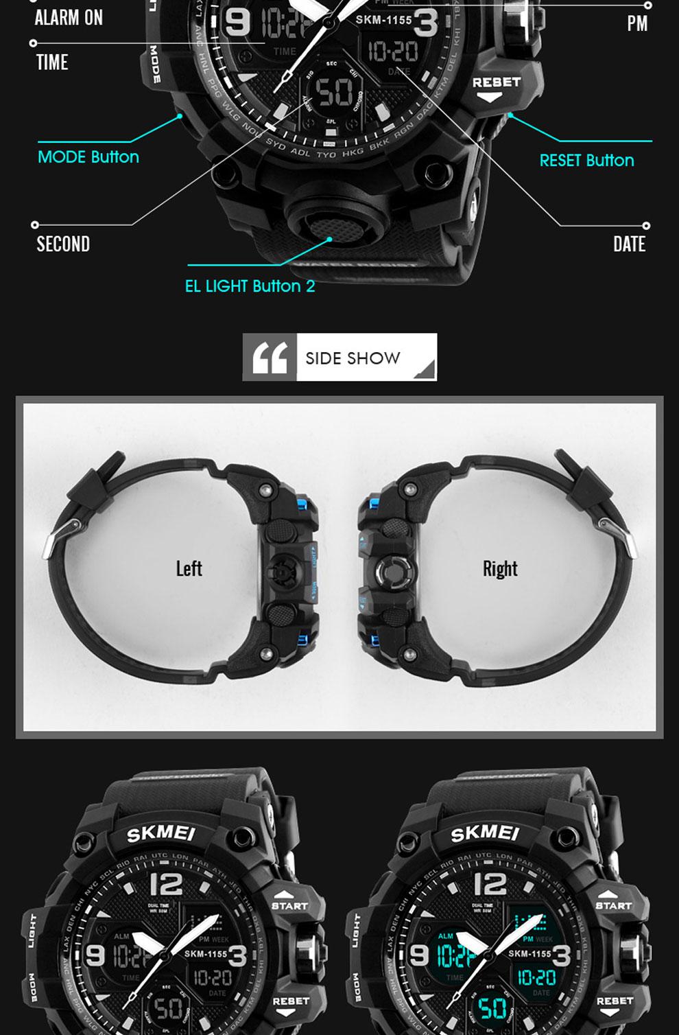 HTB1iaRlRCzqK1RjSZFLq6An2XXaB SKMEI Brand Luxury Military Sports Watches Men Quartz Analog LED Digital Clock Man Waterproof Dual Display Wristwatches Relogio