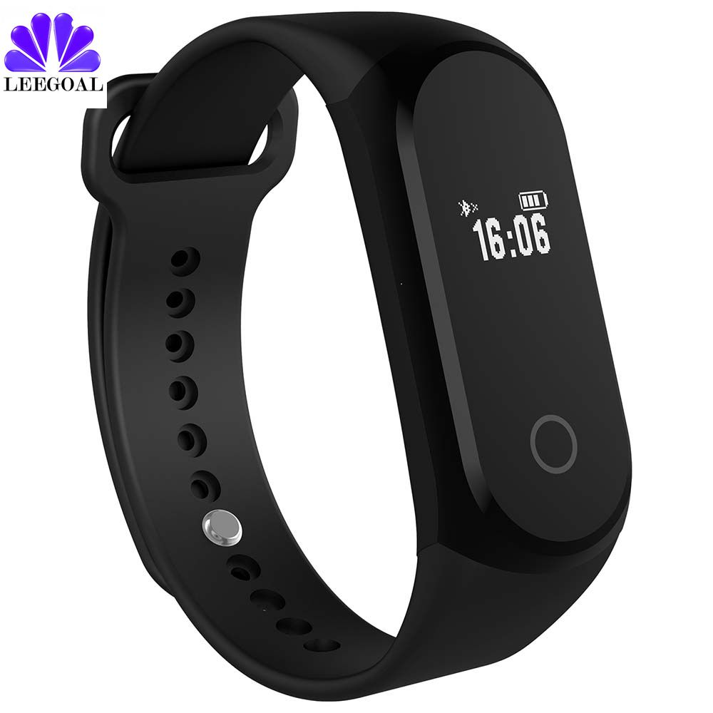 Fitness tracker step counter Smart Bracelet heart rate monitor waterproof smart band Bluetooth 4 0 for