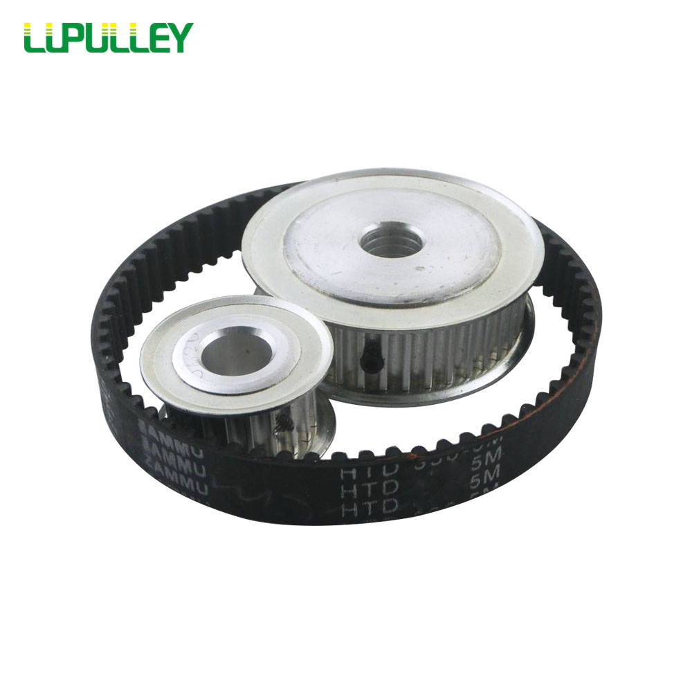 LUPULLEY Timing Pulley Belt HTD 5M Reduction 1:3 60T 20T Ratio 100mm Center Distance Gear Pulley Shaft 5M-405 Belt Width 15mm все цены