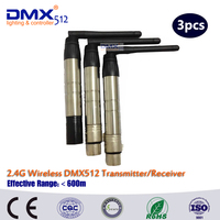 DHL Fast Free Shipping Wireless DMX Controller LED Lighting Transmitter Receiver Male Female Plugs