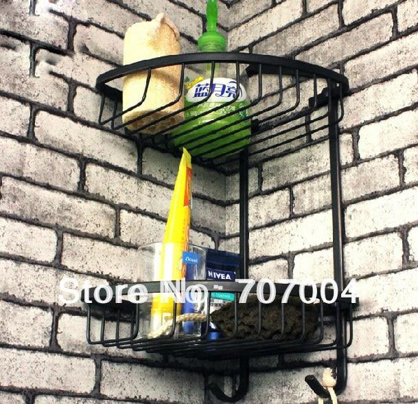 Oil Rubbed Bronze Corner Shower Caddy Basket Bathroom Cosmetic ...