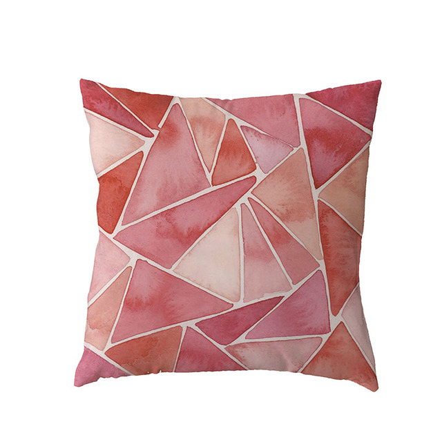 UK/_ LT/_ EE/_ Modern Flamingo Pillow Case Cushion Cover Soft Polyester Peach Skin