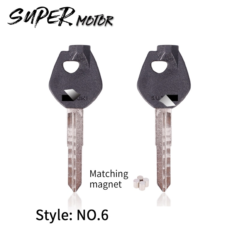 Motorcycle Uncut Blade Blank Key For Suzuki Magnet Motorcycle Anti-theft Lock Keys QS125T-2 HS125 QS150 QJ125 Keeway