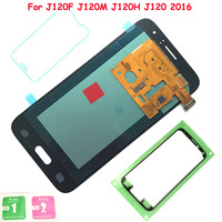 FIX2SAILING 100 Tested Working AMOLED LCD Display Touch Screen Assembly For Samsung Galaxy J1 J120F J120DS