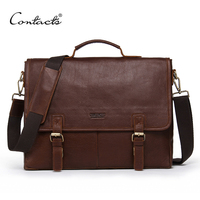CONTACT S Genuine Leather Men S Briefcase Brand Design Men Messenger Bags Business Handbags Shoulder Bags