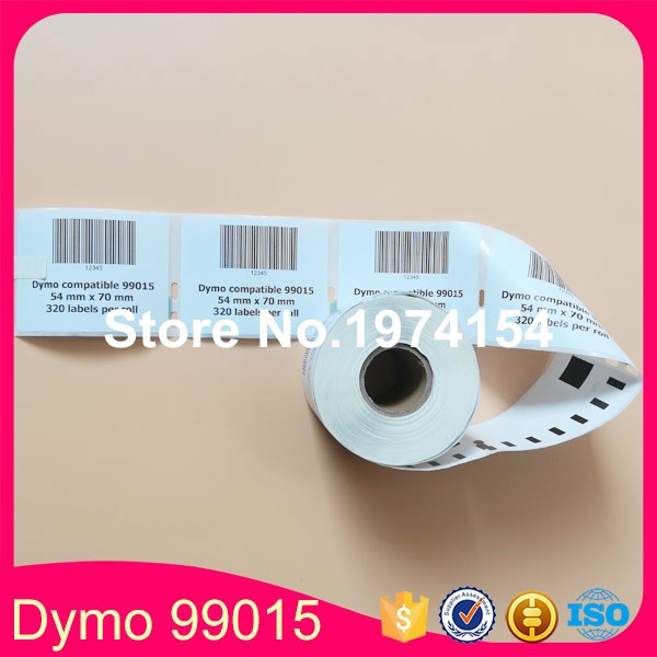 60 Rolls Dymo 99015 Compatible Label 54mm*70mm 320Pcs/Roll White Compatible for LabelWriter 450Turbo Printer  SLP 440 450