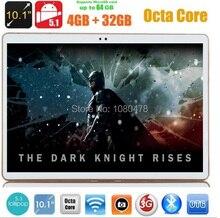 2017 El Más Nuevo 4G Lte 10 pulgadas Tablet PC Android 6.0 Octa Core 4 GB RAM 32 GB ROM 5.0MP GPS Phablet 10.1MID