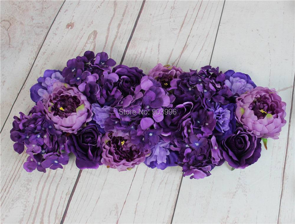 2017 Purple High Quality 10pcs/lot Wedding Flower Wall Stage Backdrop  Decorative Wholesale Artificial Flower Part 65