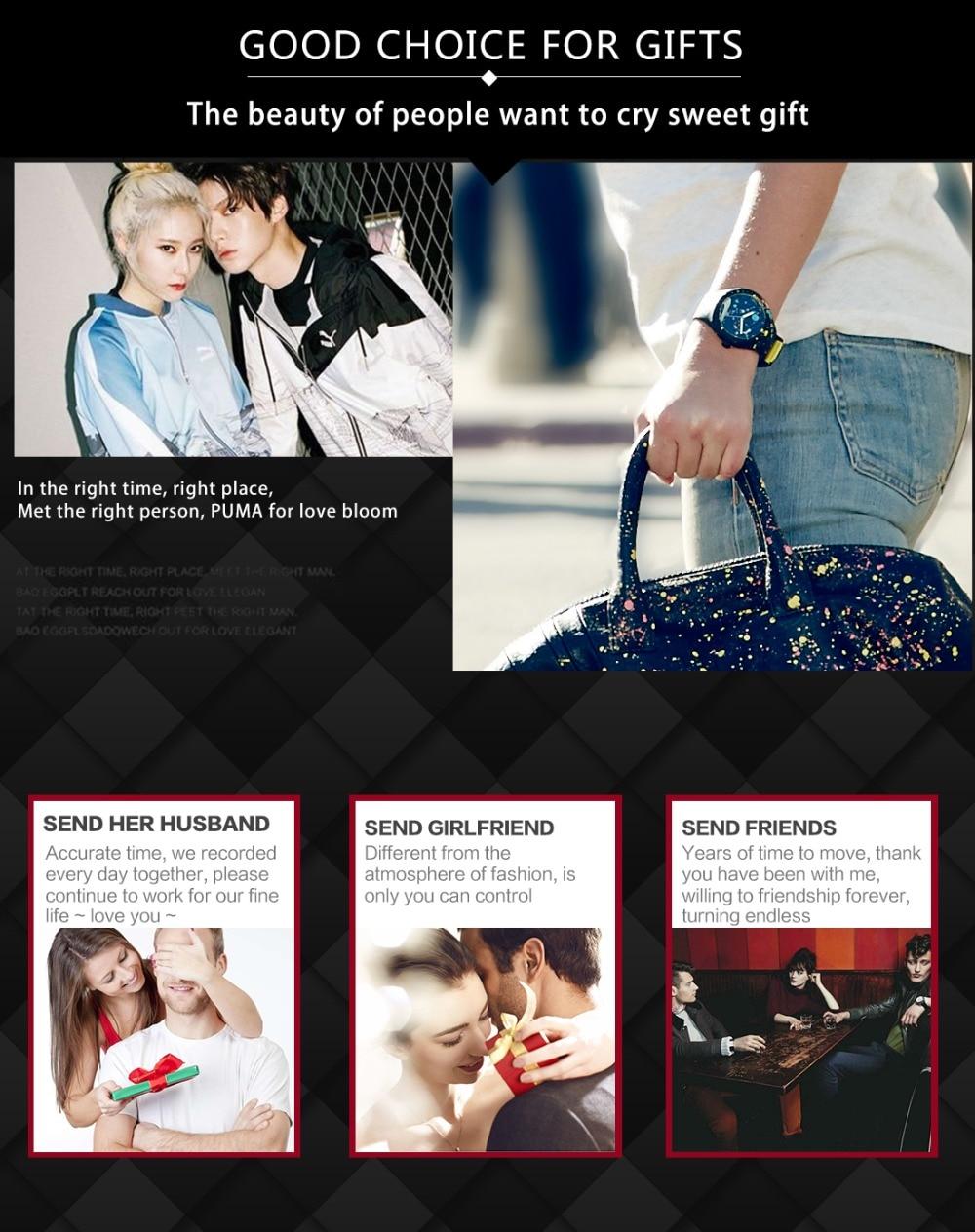 Image 4 - PUMA watch guardare gli uomini di moda serie di rotazione multifunzionale di cronometraggio del movimento del cristallo orologio-in Quartz Watches from Watches