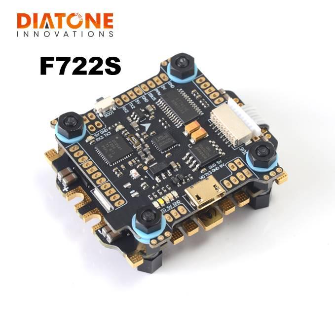Diatone MAMBA F722S Betaflight pile contrôleur de vol OSD 5/9V 2A BEC & 50A 3-6S Blheli_32 Dshot1200 sans balai ESC RC Drone
