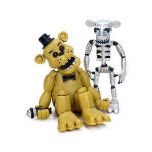 Image 4 - 4 pz 4 delle Cinque Notti a Freddy Serie di Azione PVC Figure Set 4.5 6.5 cm Freddy Fazbear Bonnie chica Foxy Sorella Posizione Bambole