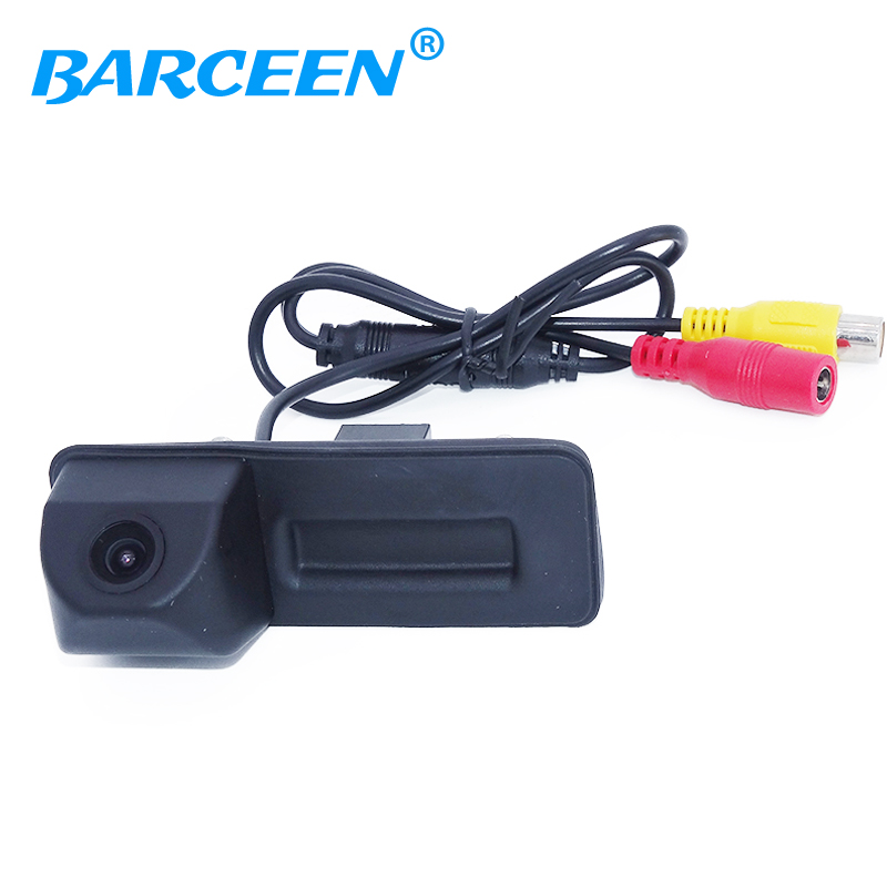 Rear view camera For skoda octavia fabia /For audi A1 Car parking camera Trunk handle camera Night vision waterproof color hd ccd night viosn car trunk handle reverse parking rear view camera for audi a1 skoda roomster fabia octavia yeti superb