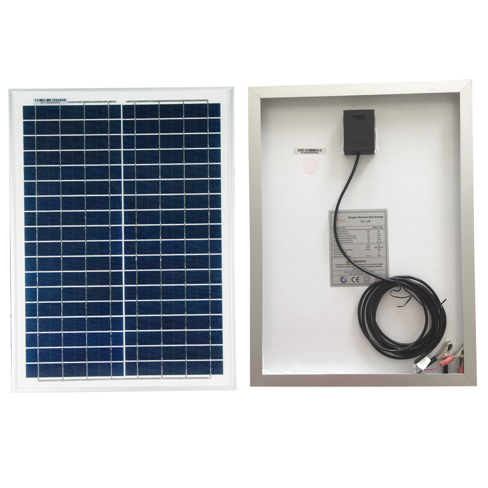Renepv 20W polycrystalline solar panels 18V for 12V battery power charging kit renepv 20w polycrystalline solar panels 18v for 12v battery power charging kit