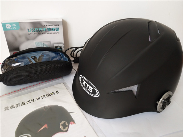 2017 New Hair Restoration Regrowth Laser Helmet Loss Products For With Gles Timer