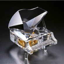 Send girlfriend Crystal piano music Box Music box Castle in the Sky Creative Valentine's Day Novelty birthday gift