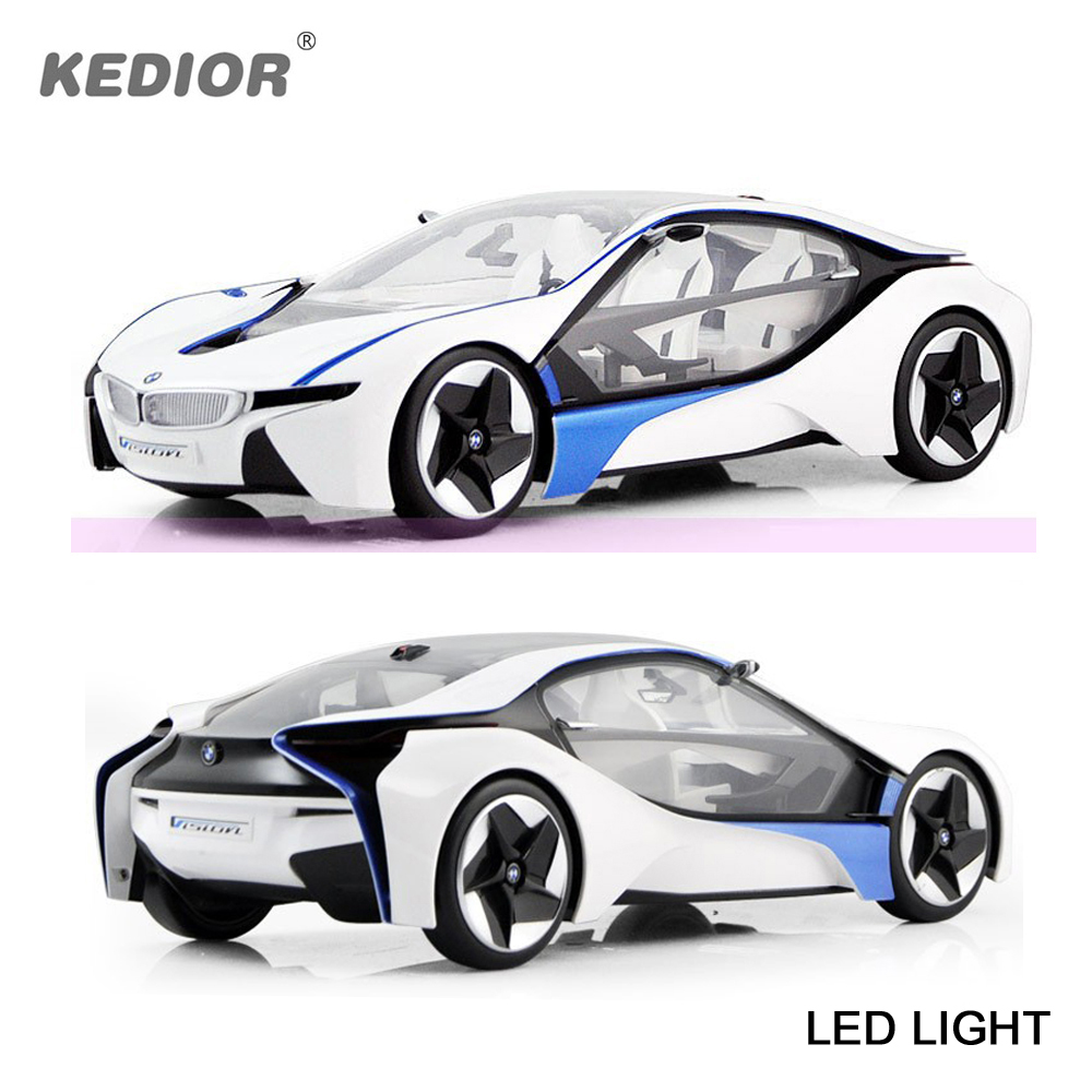 ФОТО VED 1:14 i8 Battery Powered Remote Control Car 4CH Electric Rc Racing Cars Radio Control Toy Sport Model Cars For Kids Gift