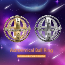 Hot Astronomical Sphere Ball Ring Cosmic Finger Couple Lover Jewelry Gifts HD88