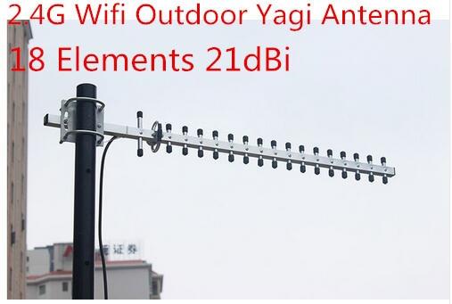 2.4 Г с высоким коэффициентом усиления антенна yagi 21dBi для wifi усилитель сигнала беспроводной 2.4 Г ap открытый антенна yagi 18 элементов