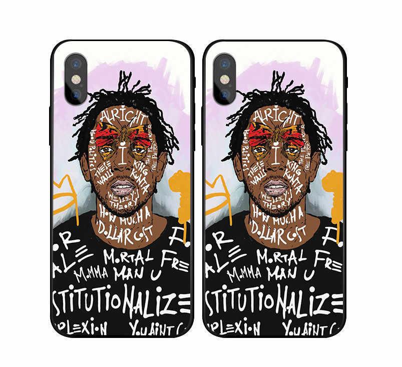 6a433ef232481 Kendrick Lamar & J Cole painting art Soft Silicone TPU Phone Case For  iPhone 5 5S SE 6 6S Plus 7 7Plus 8 8Plus X 10 Back Cover
