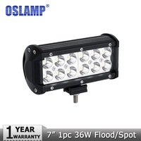 Oslamp 7inch 36W LED Work Light Spot Flood Beam Driving Lights Led Work Lamp ATV SUV