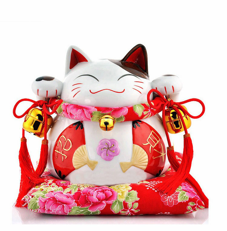 Japanese Home Decor Store: Ceramic Maneko Japanese Lucky Cat Shop Ornament Piggy Bank