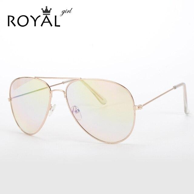 ROYAL GIRL High Quality Brand Designer Women Sunglasses 3025 Pilot Sun glasses Sea gradient shades Men Fashion glasses