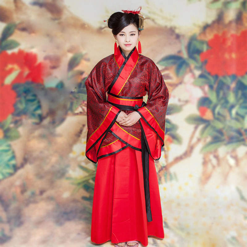 DJGRSTER Classical Hanfu Costume Women Tang Traditional Chinese Ancient Costume Woman Dance Costumes Chinese Folk Clothes