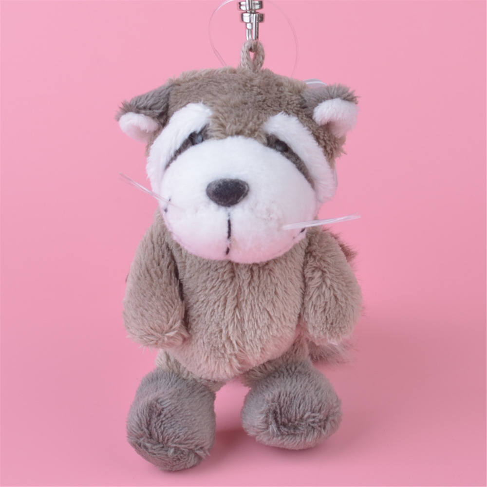 3 Pcs Light Color Raccoon Small Plush Pendant Toy, Kids Doll Keychain / Keyholder Gift F ...