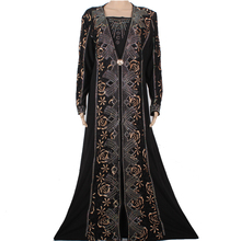 Muslim Abaya Islamic Clothes For Women Dubai Kaftan Lace Heavy Beading Design Jilbabs and Abayas Muslim Hijab Dress CS95FD1402-1