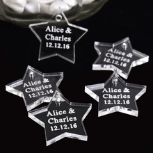 50PCS 2.5*2.5cm Personalized Engraved Love Star Wedding Table Centerpieces