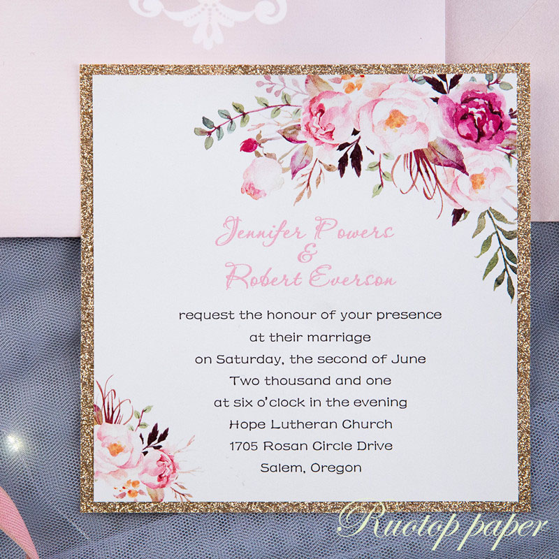 50pcs custom color wedding invitations card pearl paper laser 50pcs custom color wedding invitations card pearl paper laser cutting wedding invitation flowers hollow wedding greeting cards in cards invitations from m4hsunfo