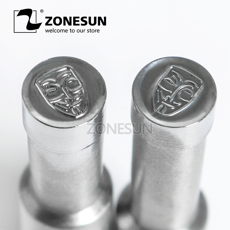 ZONESUN V mask shape Table Press 3D Punch Mold Candy Milk Punching Die Custom Logo For punch die TDP 0/1.5 Machine Free SHIPPING free shipping punching press mold 30mm free length green die moulds spring 10pcs lot