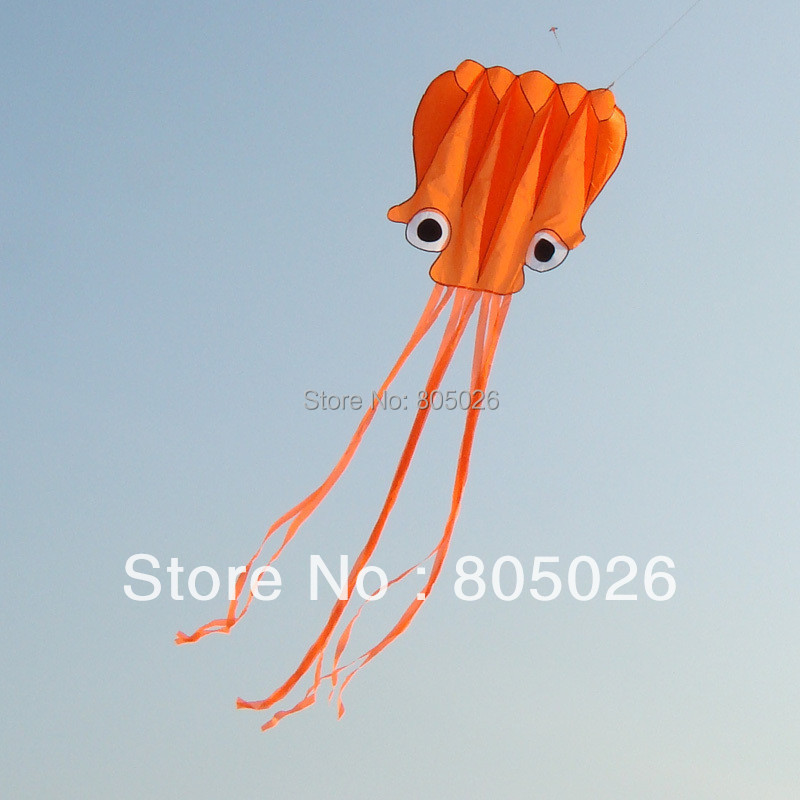 Free Shipping High Quality 6m Soft Octopus Kite Various Colors Choose With Handle Line Easy Control Outdoor Toys Nylon Ripstop