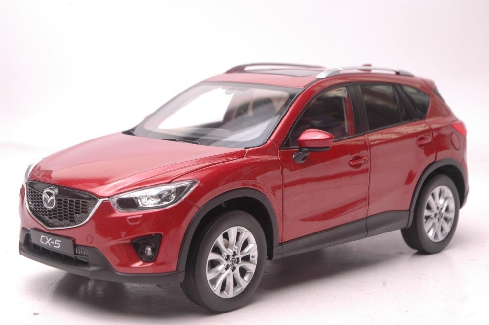 1:18 Diecast Model for Mazda CX-5 2014 Red SUV Alloy Toy Car Collection Gifts CX5 CX 5 1 18 scale red jeep wrangler willys alloy diecast model car off road vehicle model toys for children gifts collections