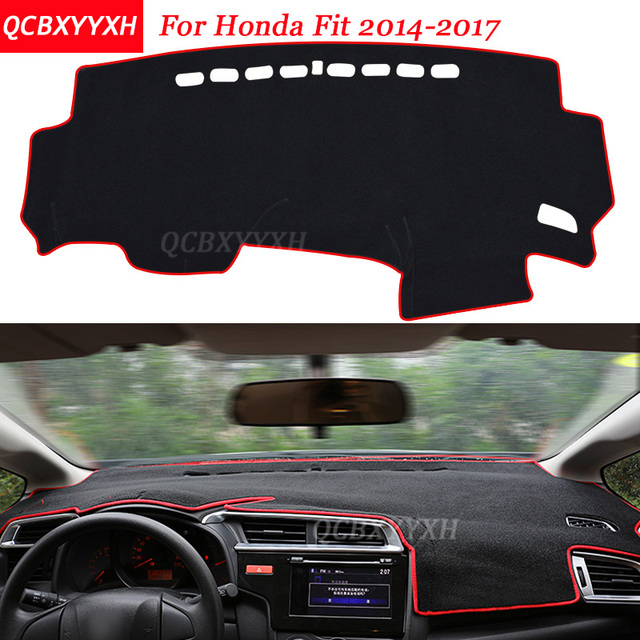 Car Styling Dashboard Avoid Light Pad Polyester For Honda Fit 2017 Instrument Platform Cover Protective Mats