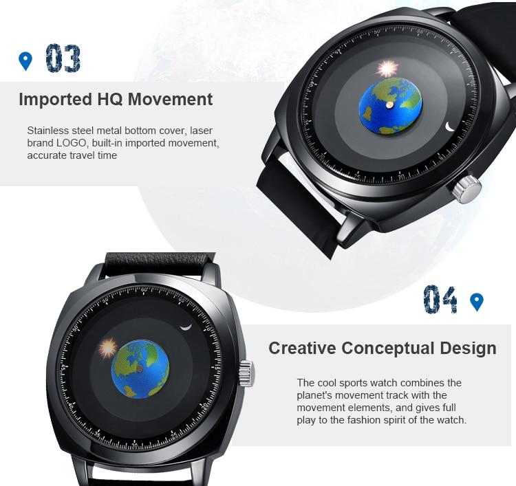 Addies design criativo rotação terra relógio céu