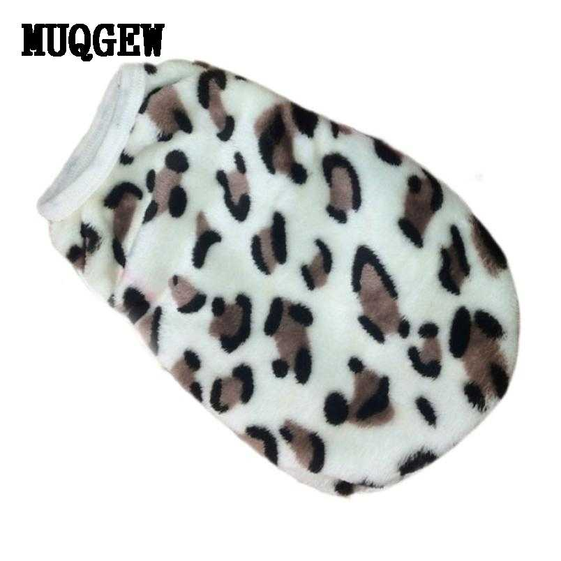 Dog Clothes For Small Dogs Fleece Winter Warm Coat Clothes Leopard Pet Vest Clothing Clothes Dog Shirt Costume Vetements Собака