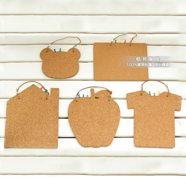 Home Stickers Message Board Creative Hanging Cork Message Board Wall