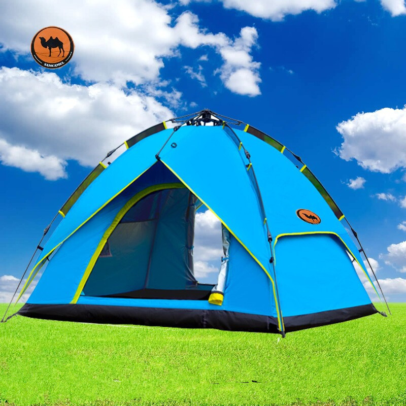 Camel 3-4 person large automatic family tent quick open camping tent sun shelter gazebo beach tent for Advertising/exhibition 3 4 person large family tent double layer camping tent good quality sun shelter four season gazebo beach tent one room one hall