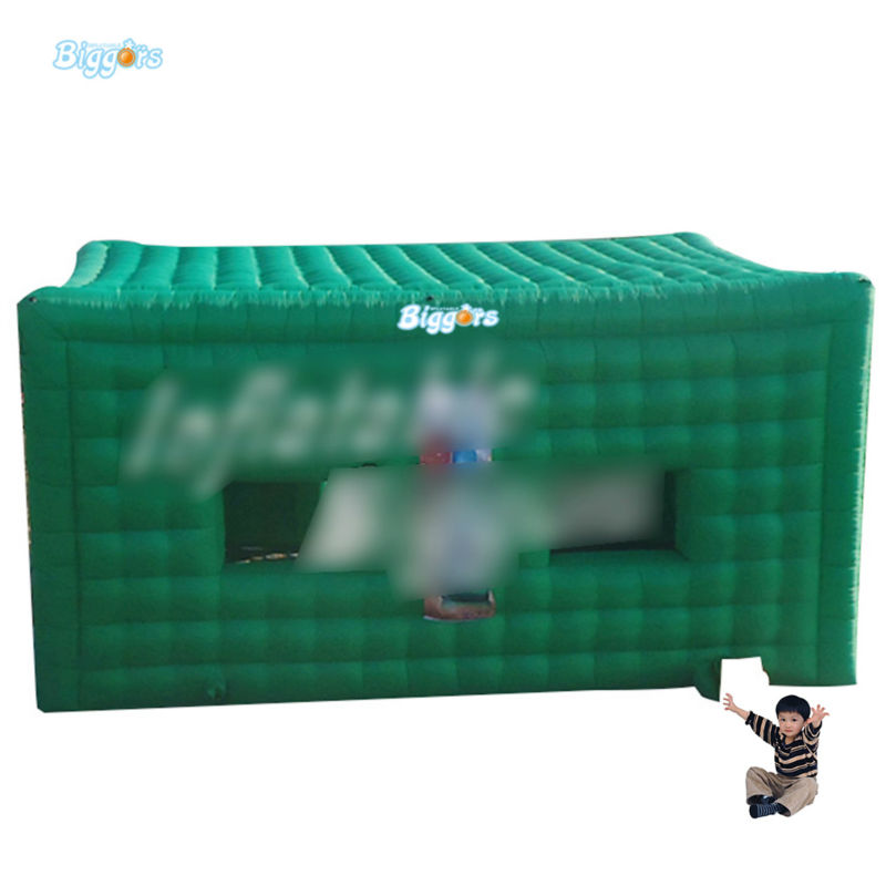 Inflatable Biggors Cube Camping Tent Green Color Inflatable Tent For Promotion