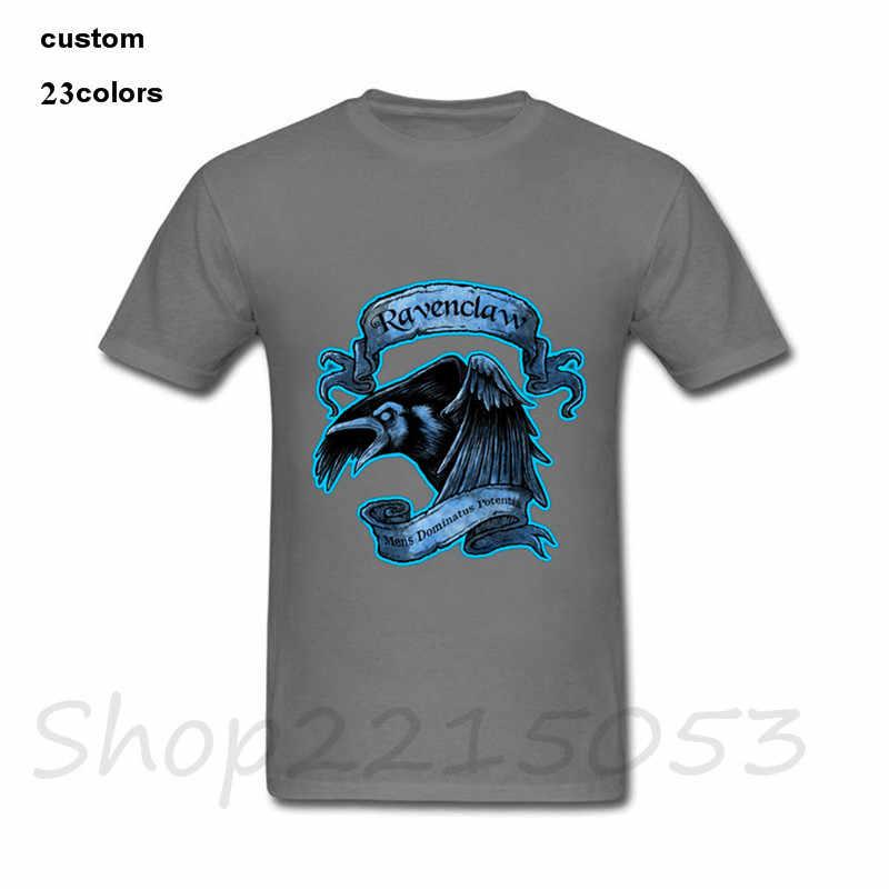 faeb7324 ... Hogwarts Slytherin Magic School T Shirt Men Boy Fashion White Short  Sleeve Custom 3XL Couple Ravenclaw ...