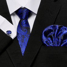 2018 Hot Men`s Tie 100% Silk Printting Classic Jacquard Woven Tie+Hanky+Cufflinks Set For Man Formal Wedding Business Party 2018 hot men s tie 100