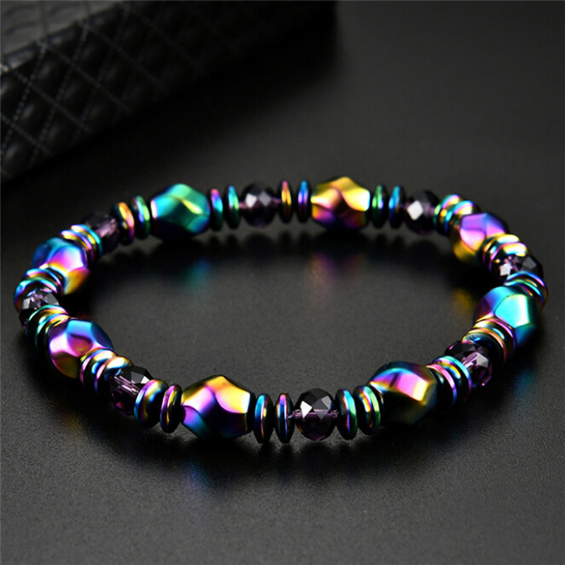 Multicolor Crystal Healing Bangle Magnetite Malachite Bracelet For Women Slimming Product