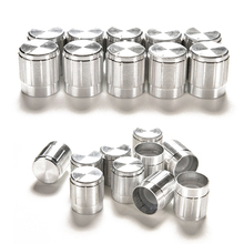 10pcs Aluminum Volume Control Rotary Knobs Silver Tone Rotary Knobs For 6mm Dia Potentiometer