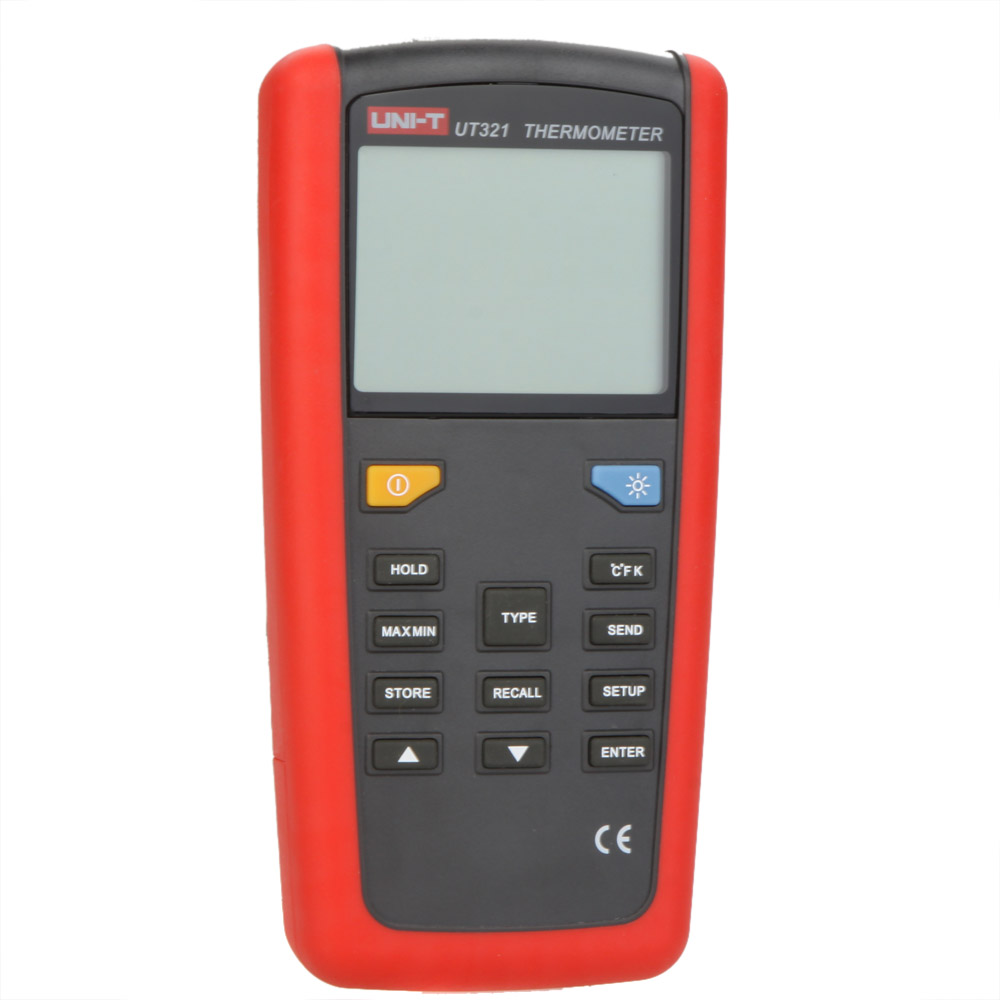 UNI-T UT321 Contact Type Digital Thermometer K/J/T/E Type Temperature Tester Sensor w/LCD Backlighgt & USB Interface