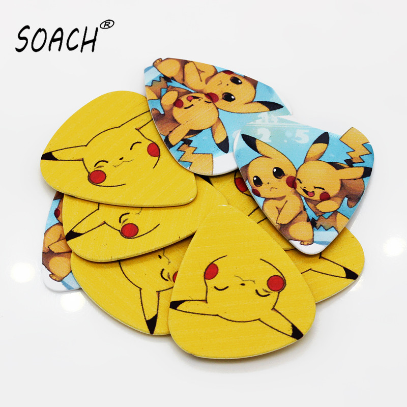 soach 10pcs 0 46mm guitar paddle blue background personality mixed pattern pvc double sided printing instrument accessories SOACH 10pcs 0.71mm  high quality picks DIY design guitar accessories pick guitar picks