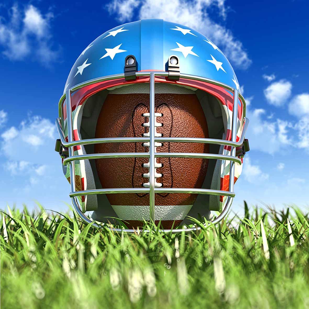 Allenjoy photo background American football helmet grass sky bokeh background for photo photo studio backdrop