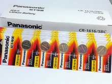 20pcs/lot New Genuine Panasonic CR1616 Button Cell Coin Batteries Car Remote Control Electric Alarm 3V Lithium Battery